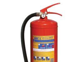 Правила использования порошкового огнетушителя